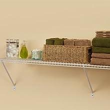 Captivating Wire Shelf, Shelf Kit, Extra Storage, Laundry Room, Closet, Bathroom,