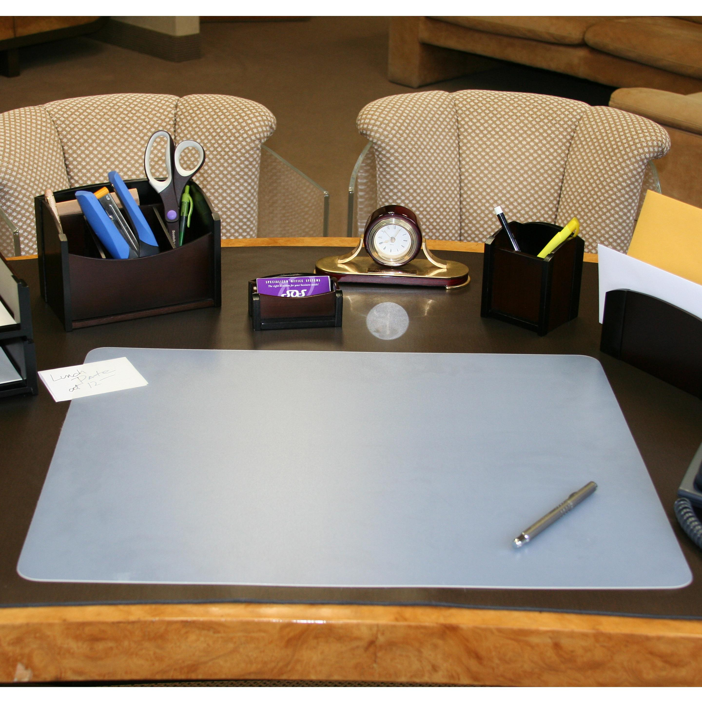 Custom Size Clear Desk Pad Desk Pad With Clear Overlay