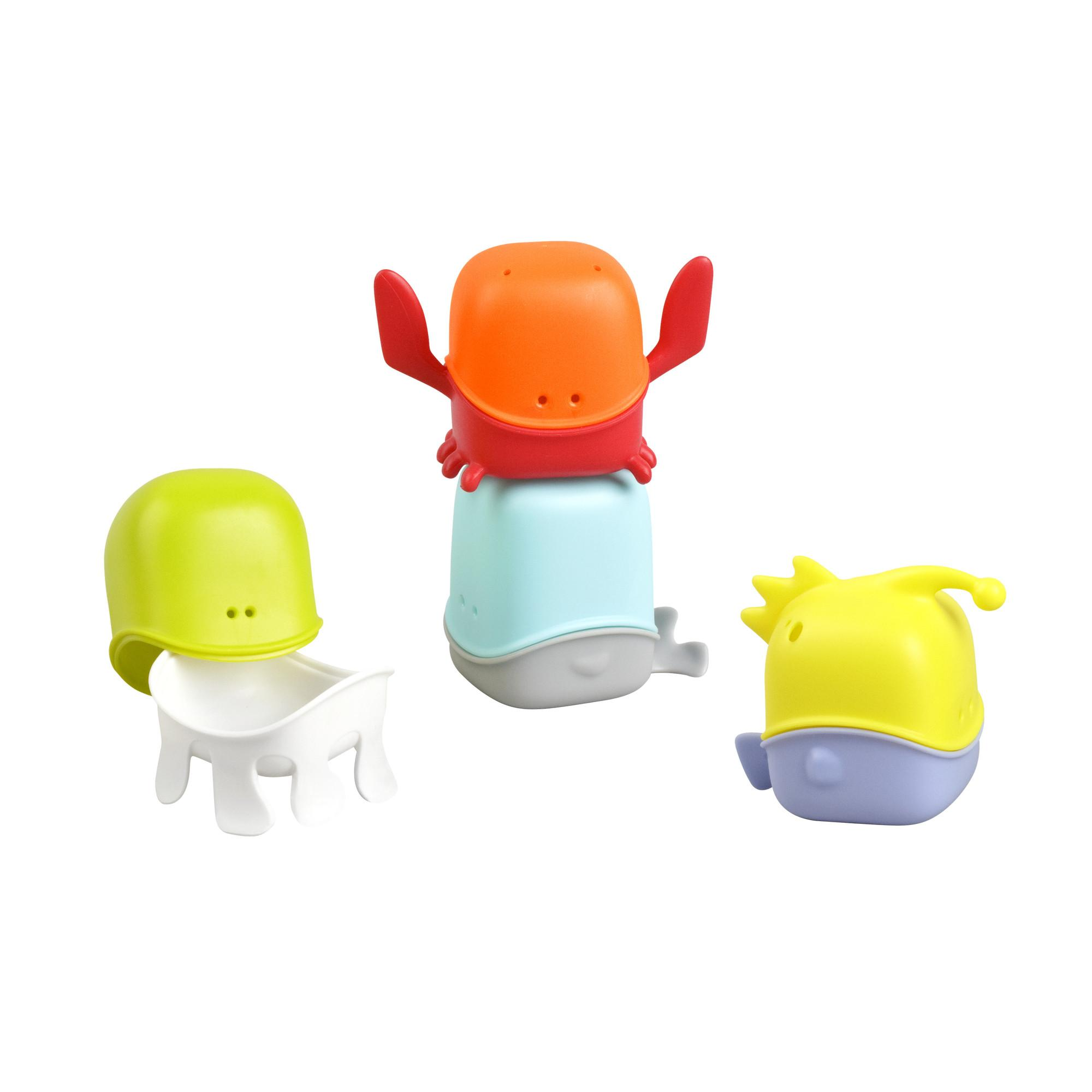 Amazon Boon Creatures Interchangeable Bath Toy Cup Set