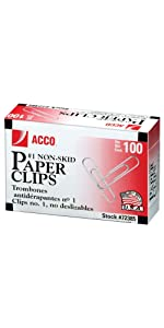 acco, paper clips, 100 paper clips