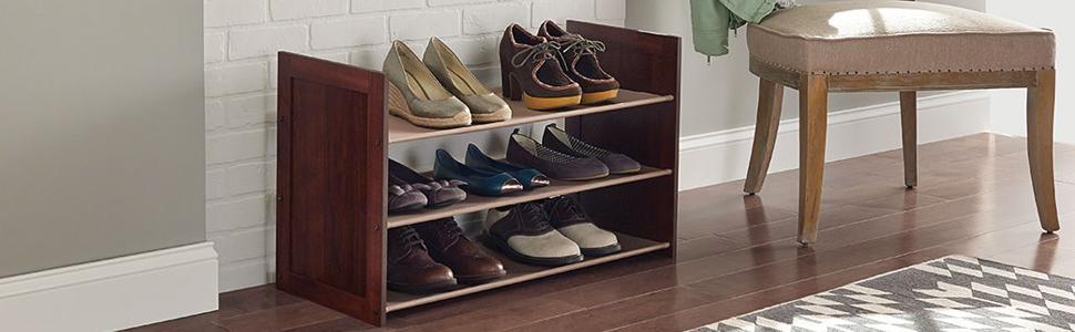 3 Tier Stackable Fabric Shoe Organizer