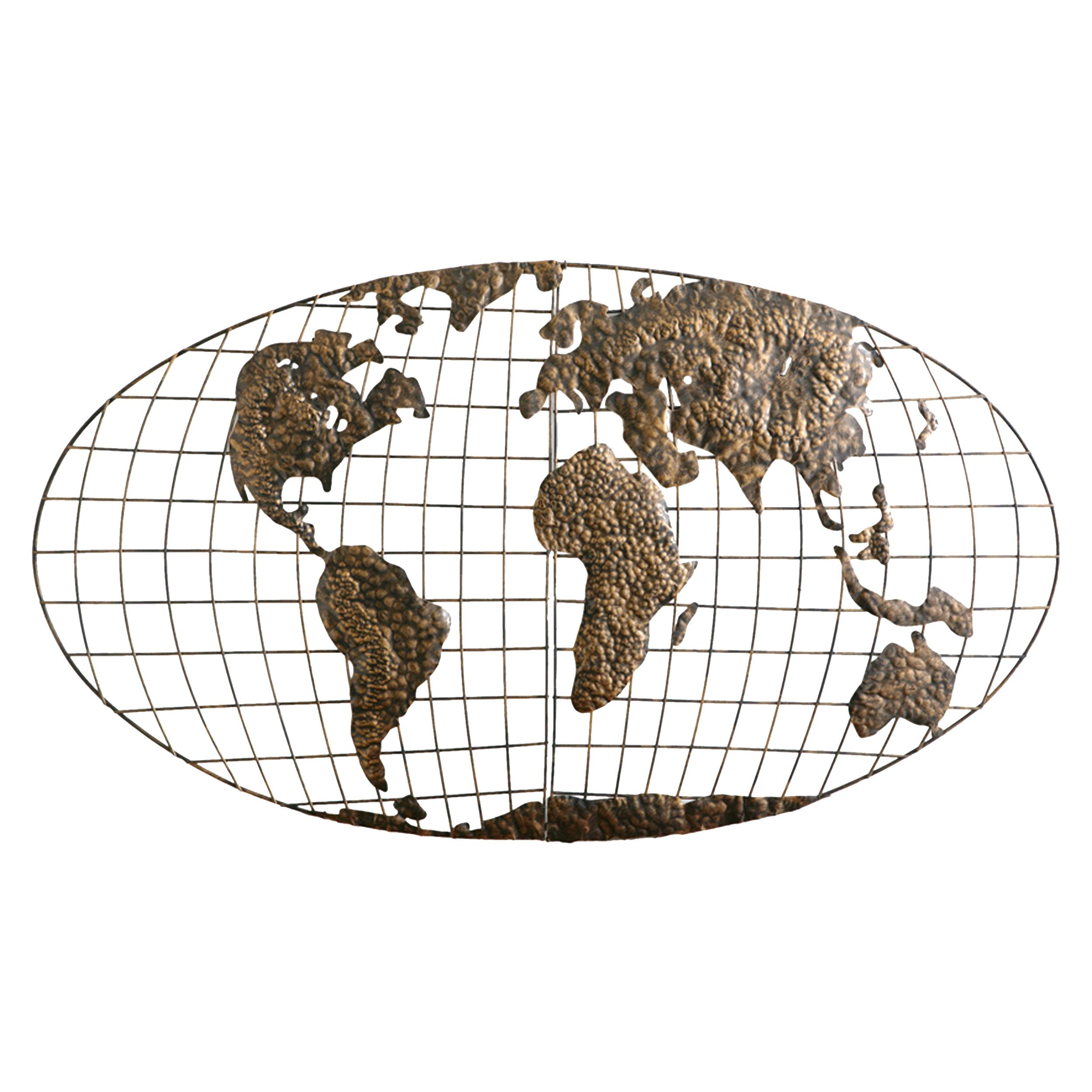 Amazon sei southern enterprises iron world map wall art home view larger gumiabroncs Gallery