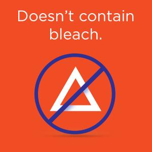 Doesn't contain bleach.