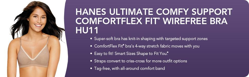 Hanes women 39 s ultimate comfy support wire free bra at for Hanes wireless soft t shirt bra hu03