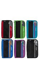 6 pack pouch, colored pouch, pencil case, pouch, binder pouch