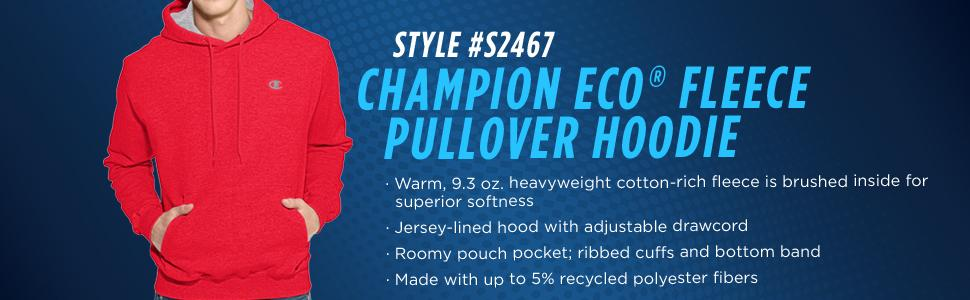 Amazon.com: Champion Men's Pullover Eco Fleece Hoodie: Clothing