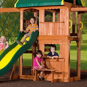 Amazon Com Backyard Discovery Prairie Ridge All Cedar Wood Playset