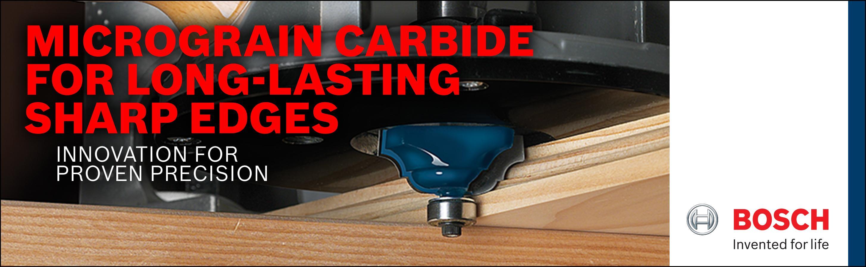 x 11//16 In Bosch 85604M 1-3//8 In Carbide Tipped Cove /& Bead Bit