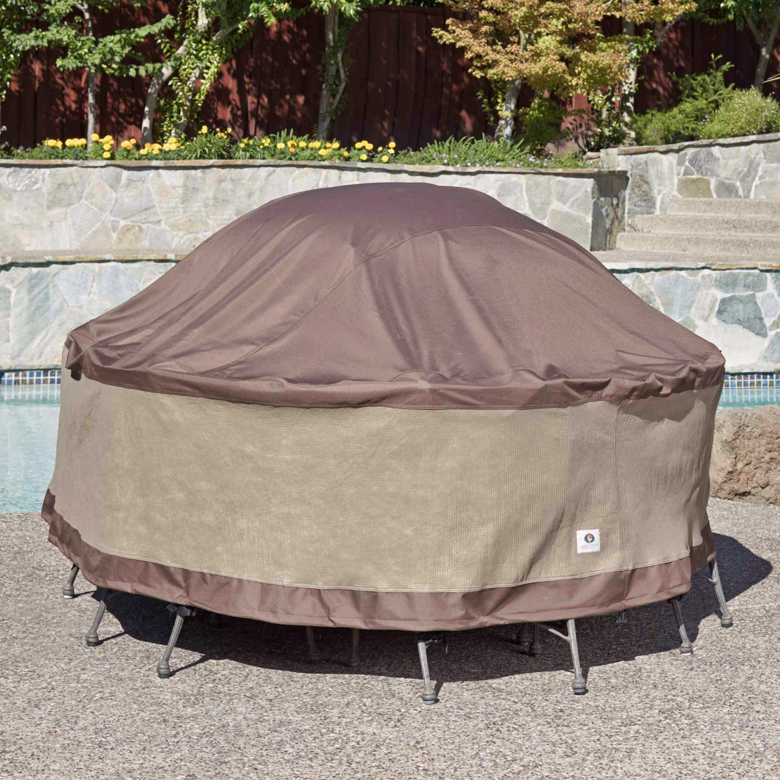 duck and cover Duck covers waterproof table & chairs patio cover - 85 - cappuccino brown : the mtr09090 duck covers are made of an innovative multi-layered synthetic material that.