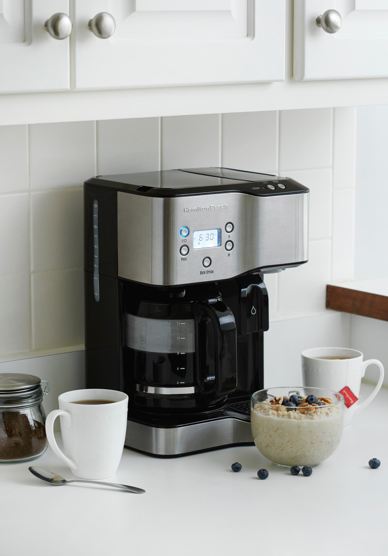 Amazon.com: Hamilton Beach 49982 Coffee Maker & Hot Water Dispenser, Black: Kitchen & Dining