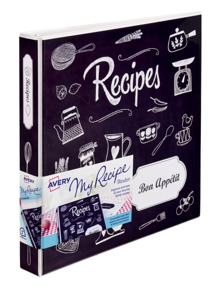 amazon com   avery my recipe binder starter kit  1 set of