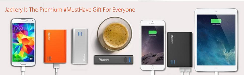 Jackery Portable Charger Giant+ 12000mAh Power Outdoors Dual USB Output Battery Pack Travel Backup Power Bank with Emergency LED Flashlight for ...