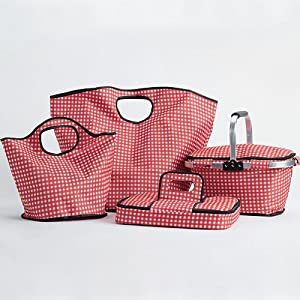 insulated totes; totes; casserole tote; casserole carrier; market basket; farmers market; insulated