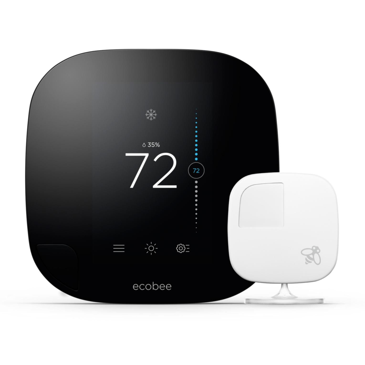 Ecobee3 Thermostat, Wi-Fi, Remote Sensor, 1st Generation, Works with