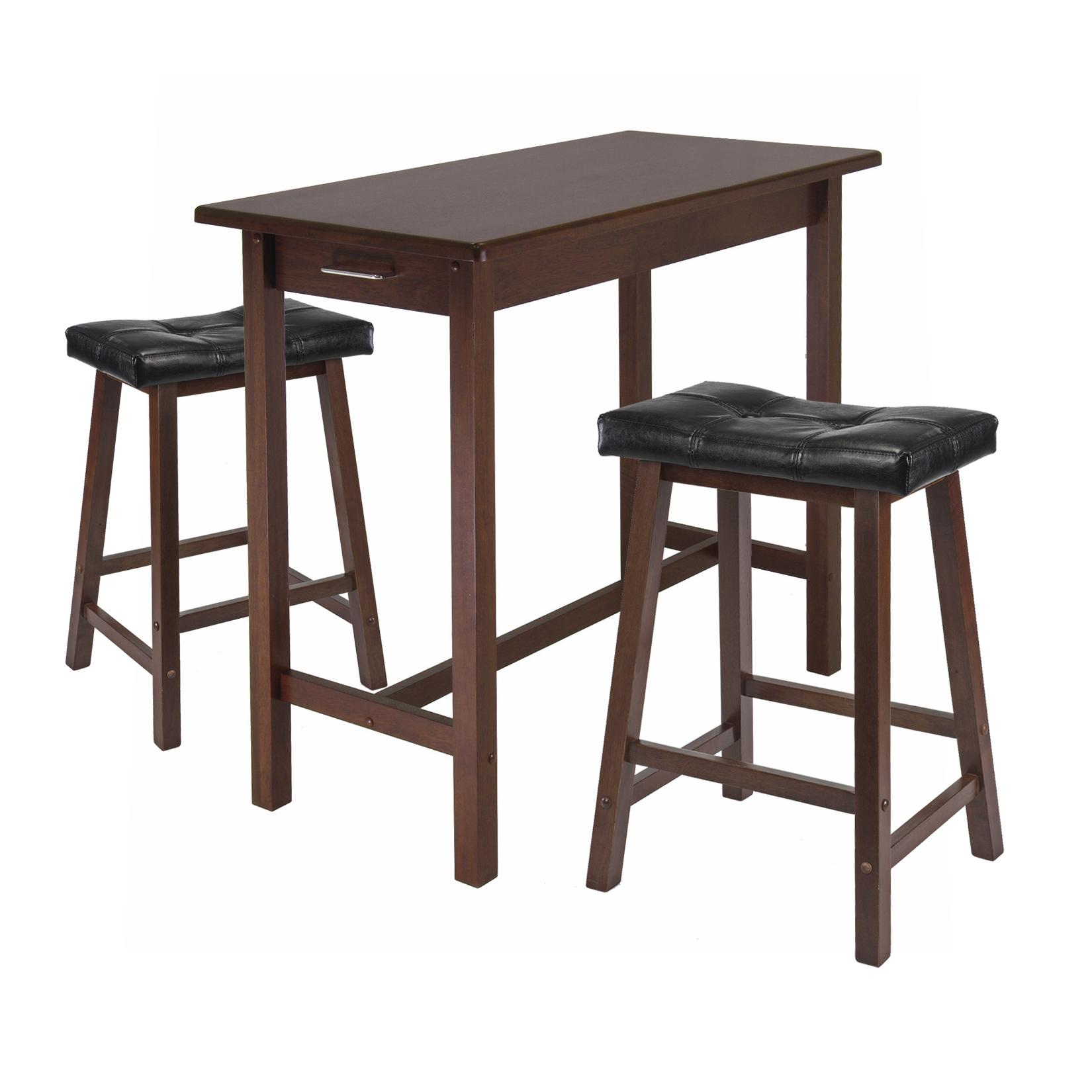 Shopko Kitchen Tables Amazon winsome kitchen island table with 2 cushion saddle seat view larger workwithnaturefo
