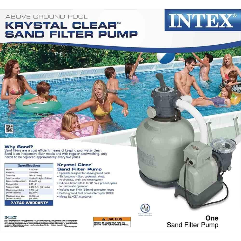 Intex pool sand filter hook up