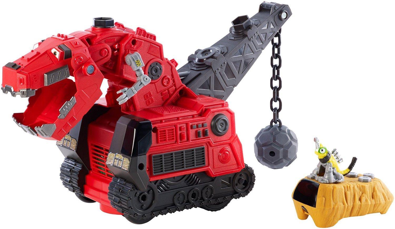 Amazon Com Dinotrux Reptool Control Ty Rux Toy Vehicle