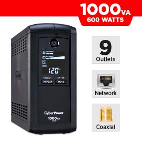 CyberPower CP1000AVRLCD Battery Backup UPS
