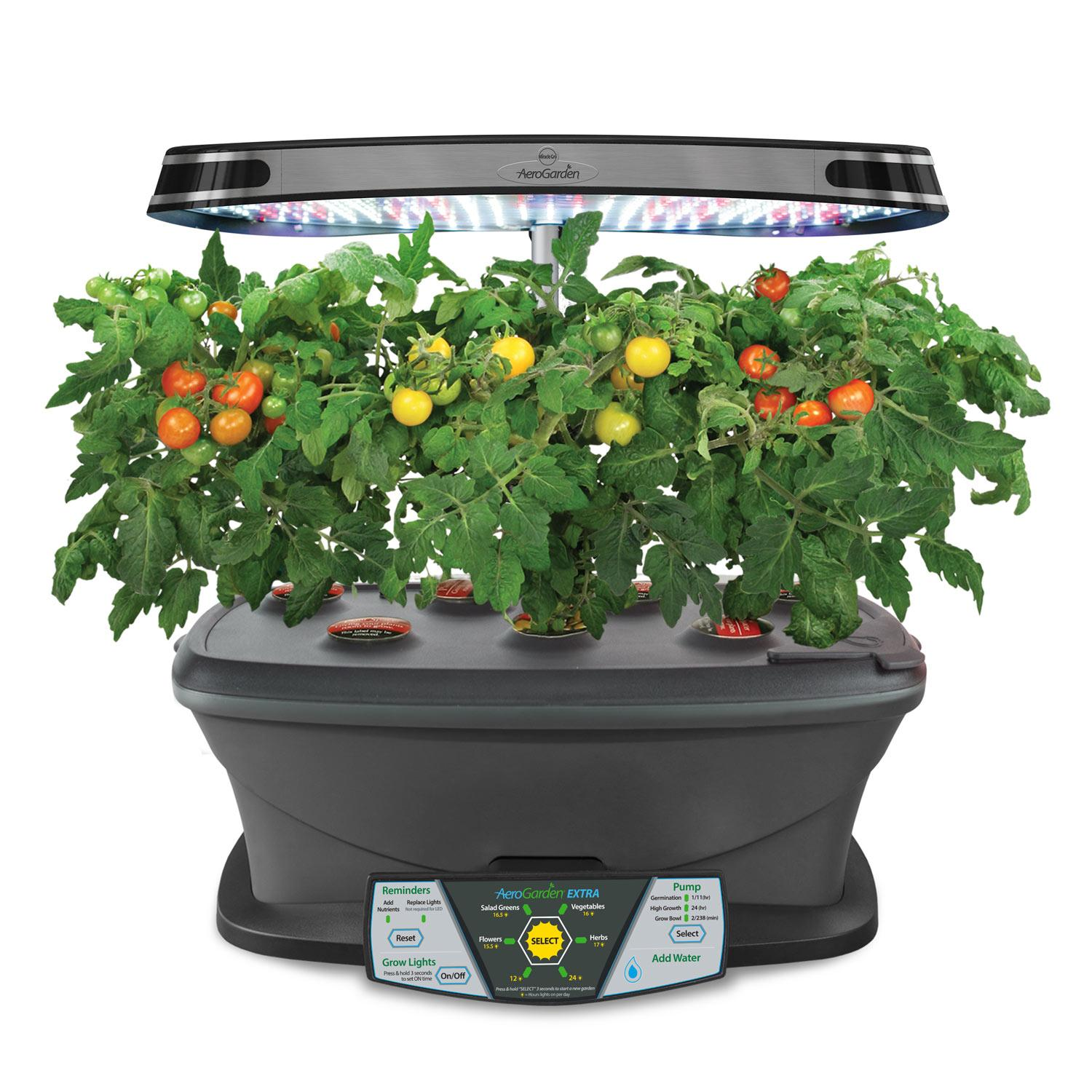 Aerogarden extra led with gourmet herb seed for Indoor gardening amazon