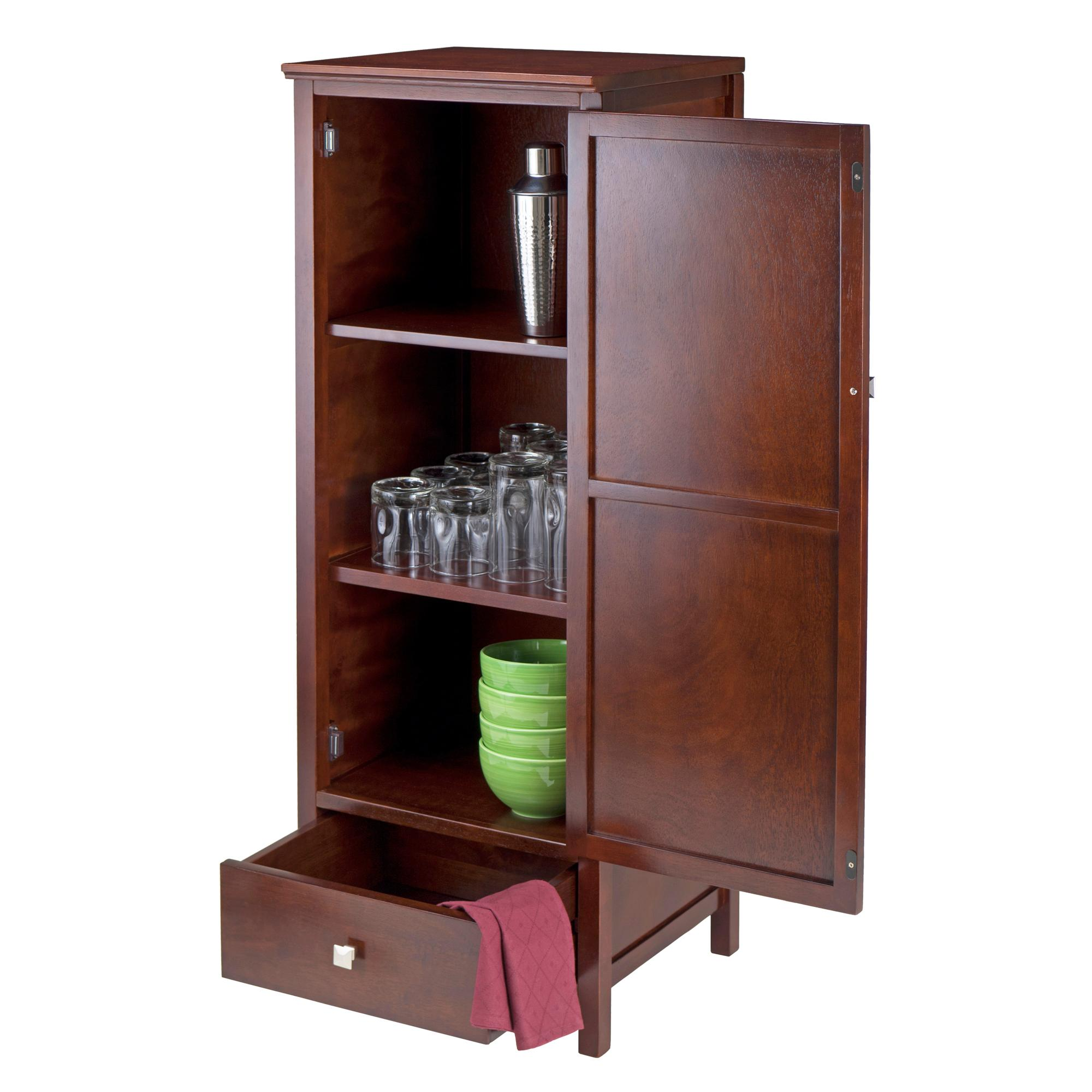 Amazon.com: Winsome Wood Brooke Jelly Cupboard with Door and Drawer