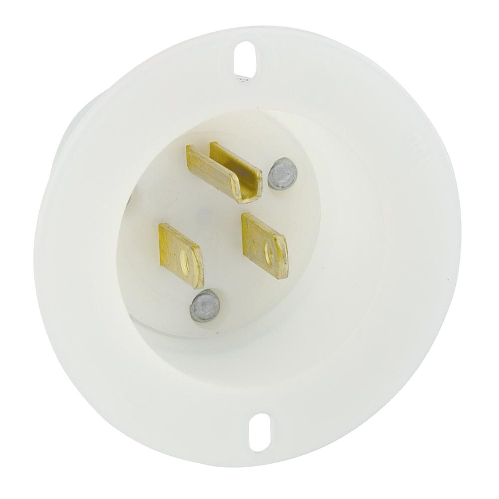 Leviton 5278 C 15 Amp 125 Volt Flanged Inlet Receptacle Straight Wiring Outlet From The Manufacturer