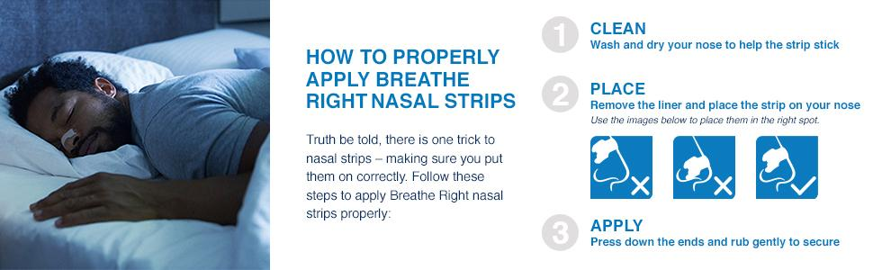 Breathe Right nasal strips help stop snoring, Relieve nasal congestion and help you sleep better.