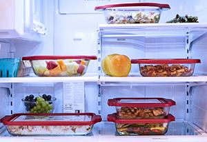 glass; bakeware; refrigerator; freezer safe; lids; stacking; TrueFit