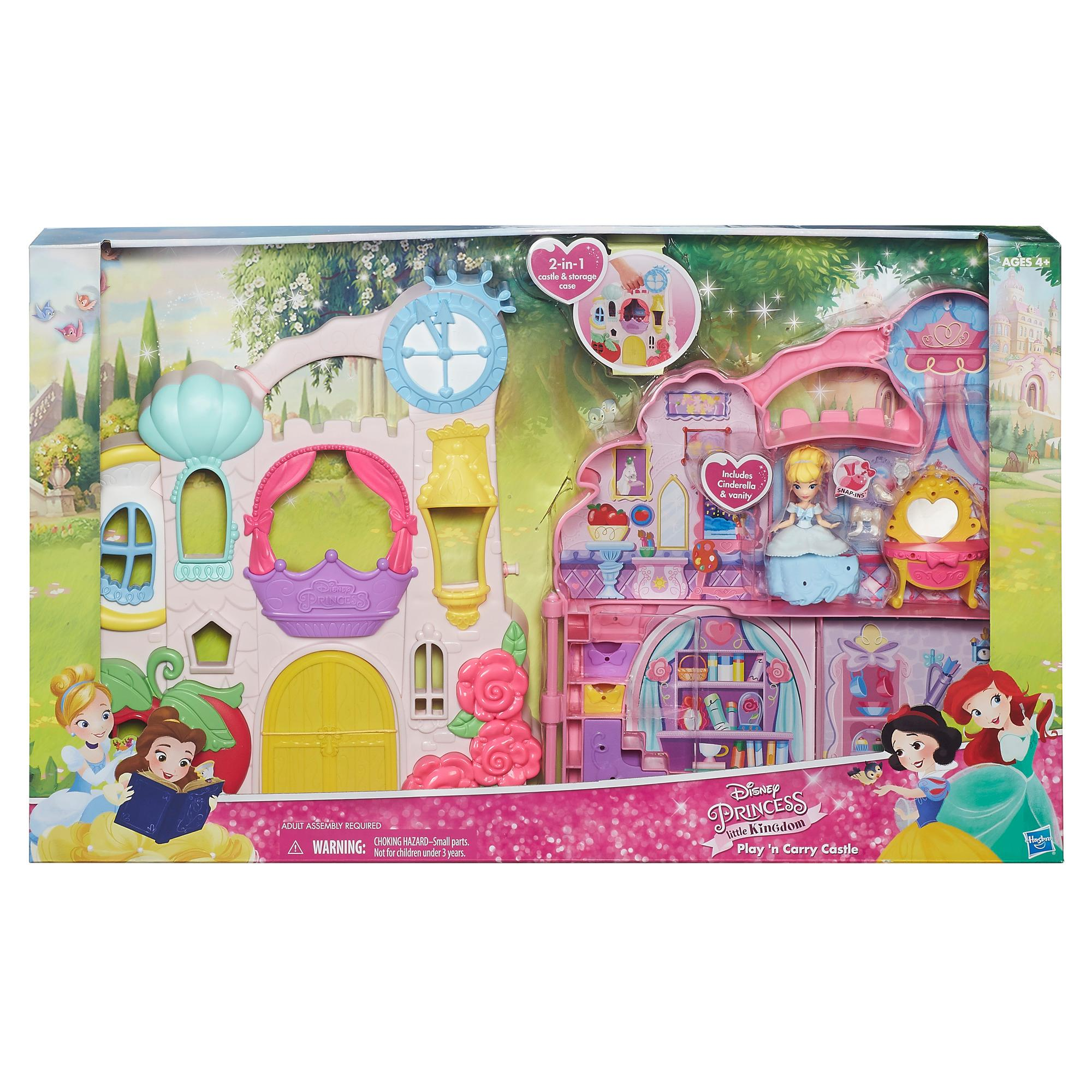 Amazon Com Disney Princess Little Kingdom Play N Carry Castle Triple Functions As Magical