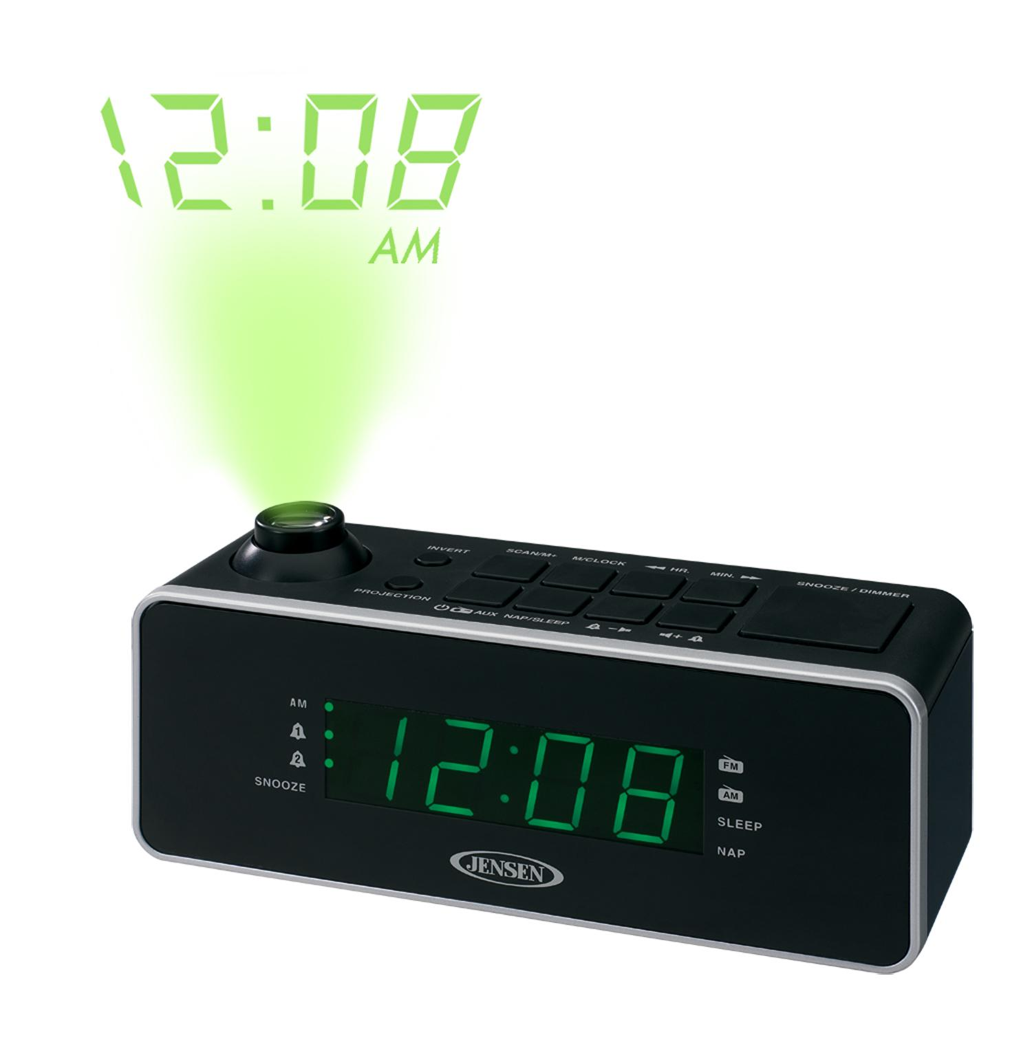 jensen jcr 235 dual alarm projection clock radio home audio theater. Black Bedroom Furniture Sets. Home Design Ideas