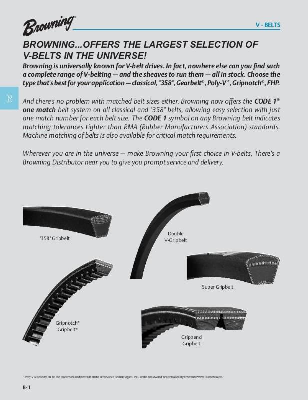 Browning 4l210 Fhp V Belts L Belt Section 20 Pitch Industrial V