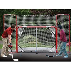 hockey, goal, puck, training, corner pocket targets, rebounder, backstop