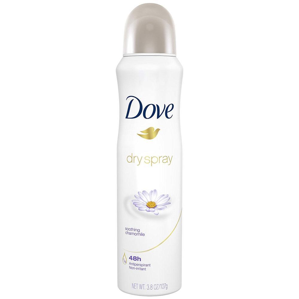 Dove Dry Spray Antiperspirant Deodorant, Soothing Chamomile 3.8 oz