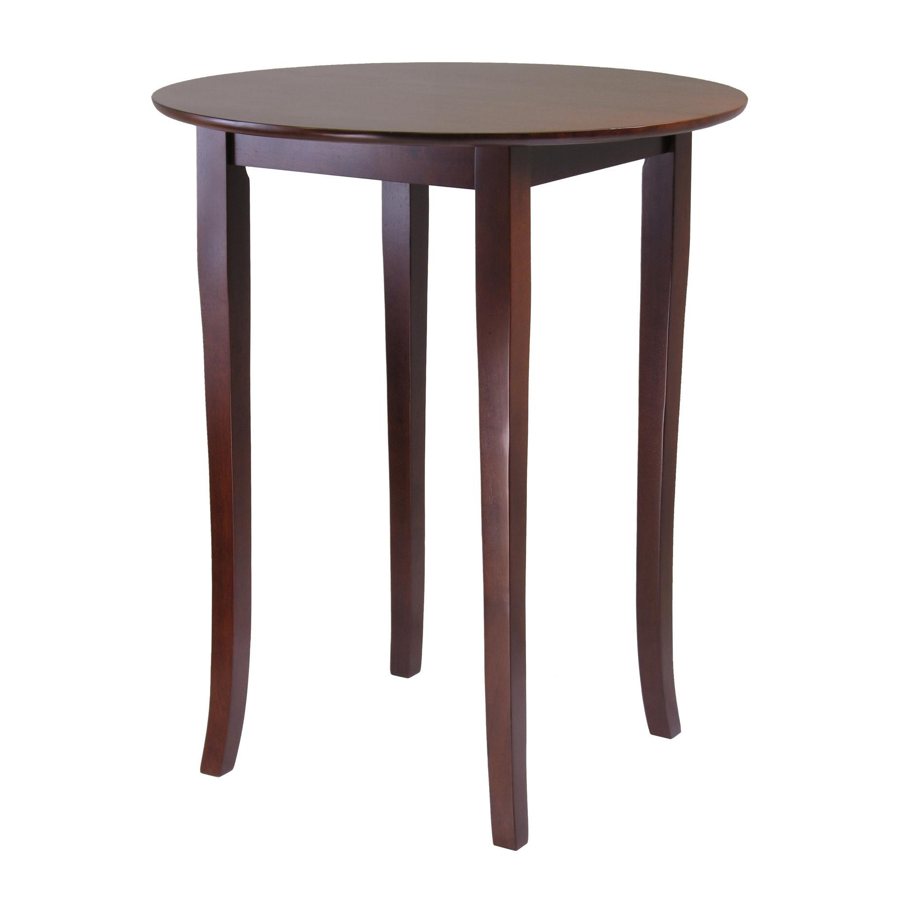 amazoncom winsome fiona round high pub table in antique walnut  - view larger