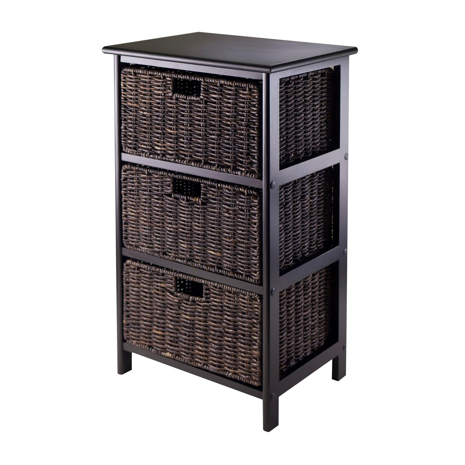 Excellent Amazon.com - Winsome Omaha Storage Rack with 3-Foldable Basket  LU97