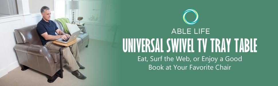 Amazon Com Able Life Universal Swivel Tv Tray Table