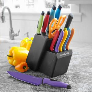 Farberware knives, kitchen knives, ceramic knives, color knives, resin knives