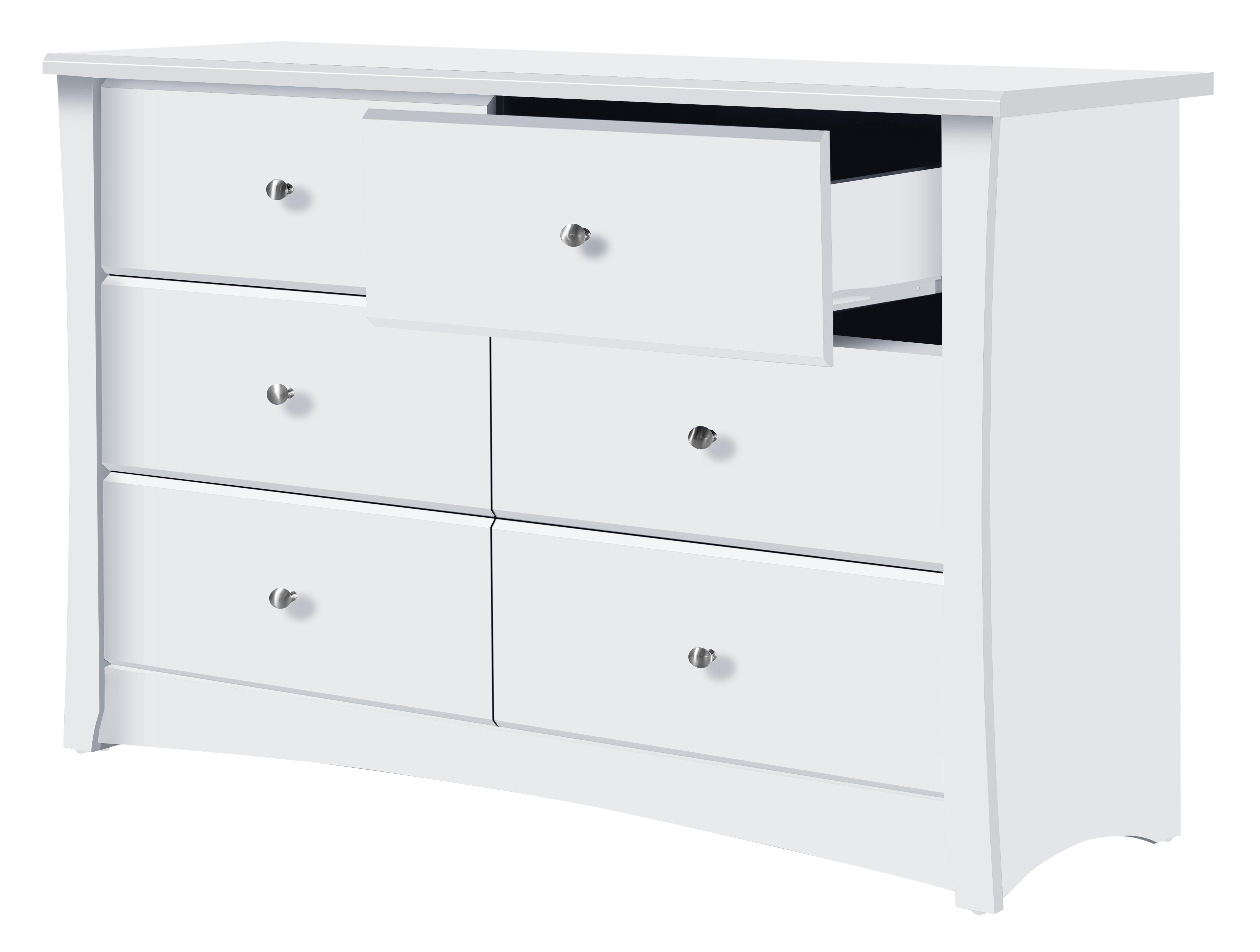 Amazon Com Storkcraft Crescent 6 Drawer Dresser White Baby