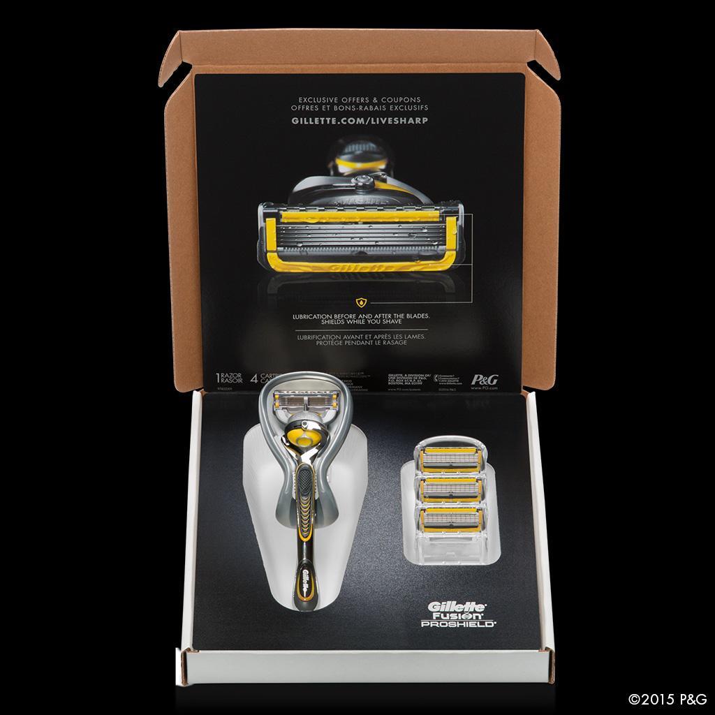 Amazon Com Gillette Fusion Proshield Bundle With 4