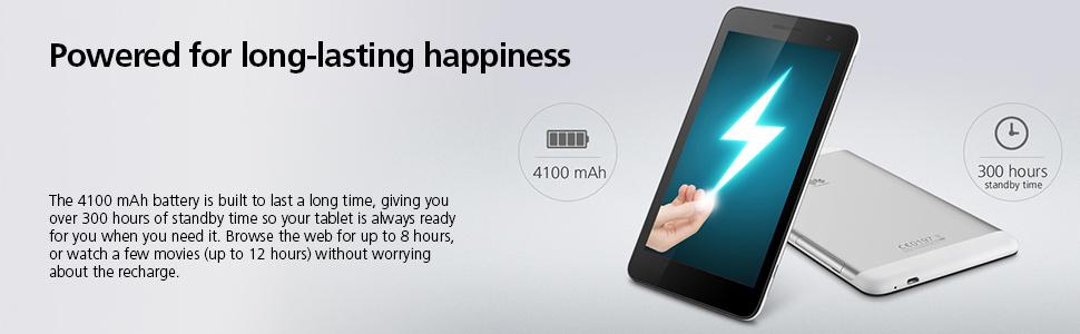 4100 mah, battery, 300 hours, standby, 8 hours, web browsing, 12 hours, movies, video