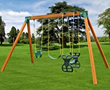 DIY Backyard Swing Set With Horse Glider, Baby Swing And Swing Set Swing
