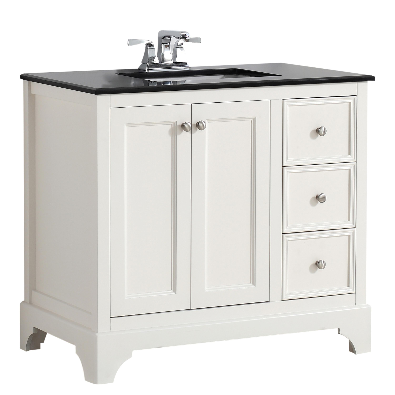 Cambridge 36 inch bath vanity with black granite top