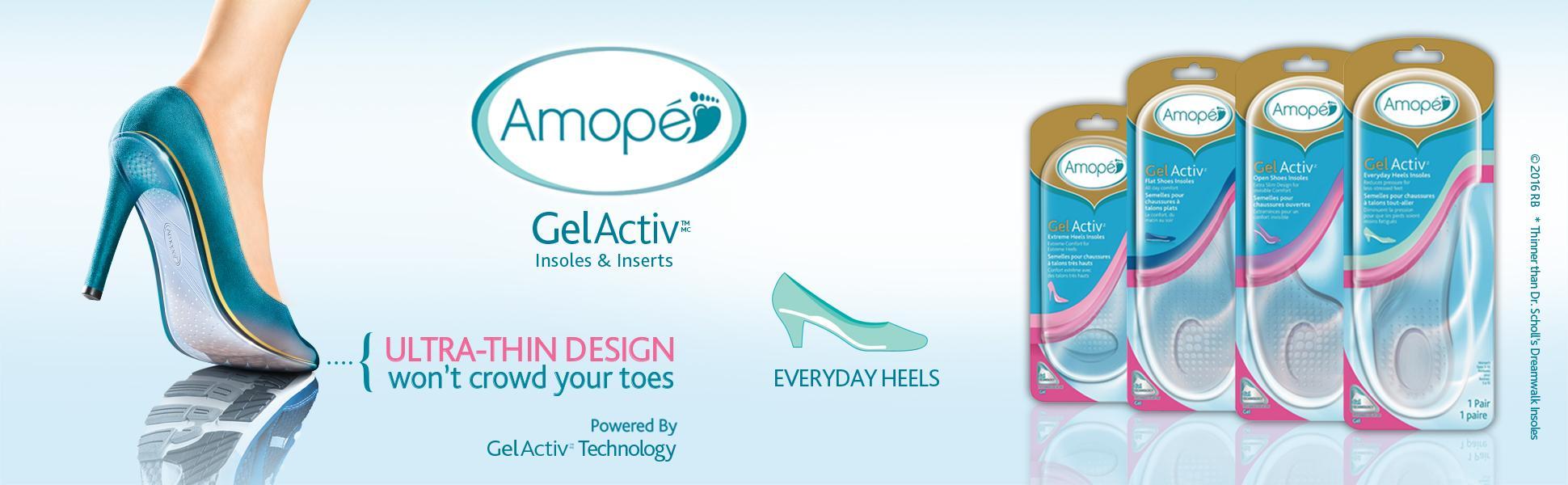 Amazon.com: Amope GelActiv Everyday Heels Insoles for Women - Size 5
