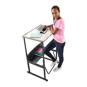 student desk, class desk, school desk, standing desk