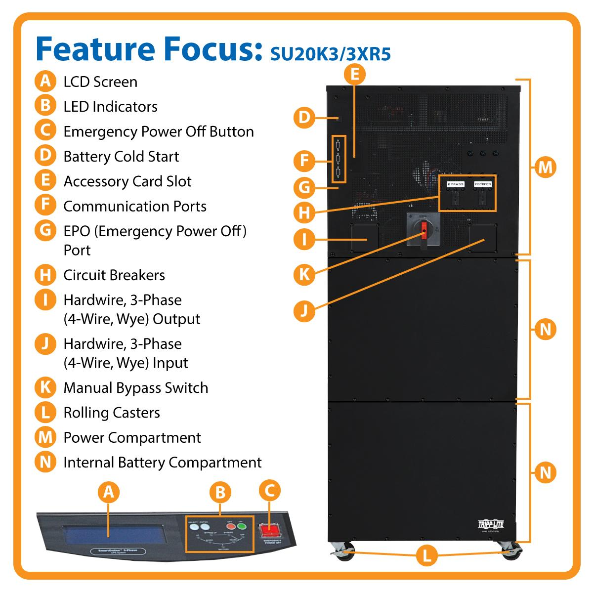 Tripp Lite Su20k3 3xr5 20000va Ups Smart Online Tower Apc 20kva 208v Wiring Diagram View Larger