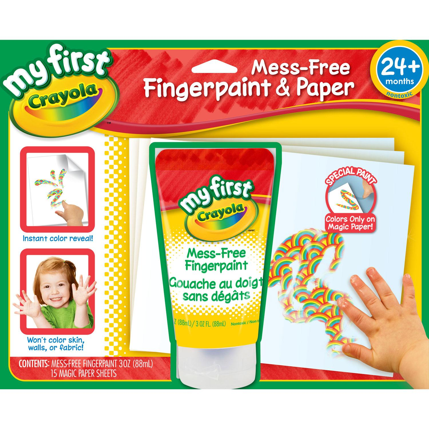Amazon.com: Crayola My First Mess-Free Fingerpaint and Paper; Art ...