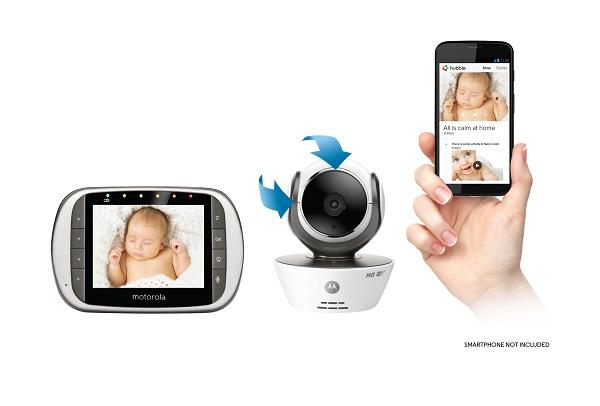 motorola mbp853connect dual mode baby monitor with 3 5 inch lcd parent monitor and. Black Bedroom Furniture Sets. Home Design Ideas