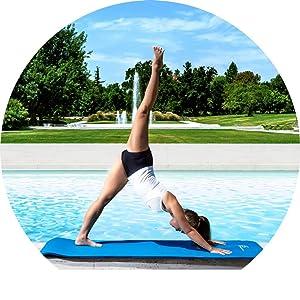 ProSource Pilates mat review, yoga mat review, super thick yoga mat, large exercise mat