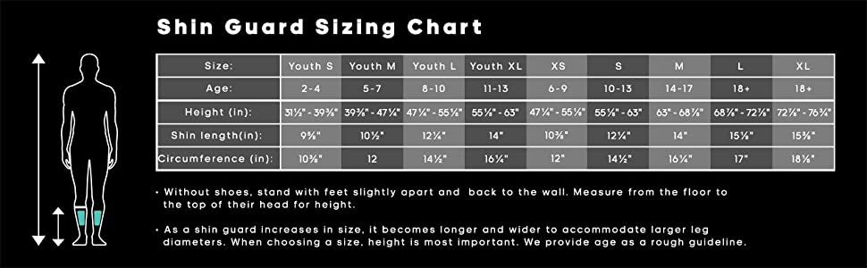 nike mercurial lite shin guards size chart