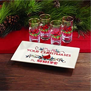 Amazon.com: Lenox Winter Greetings Hiball, Set of 4: Kitchen & Dining
