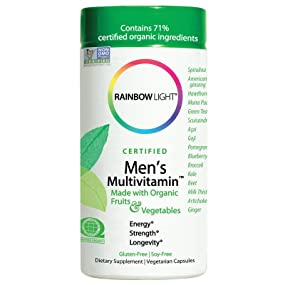 Amazon Com Rainbow Light Certified Men S Multivitamin